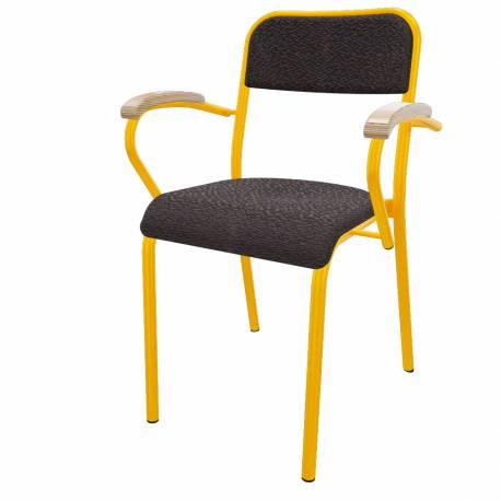 fauteuil TREVISE rembourée cat.A (accotoirs hêtre)