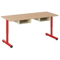 Table Petite Frimousse 120X50 avec casiers