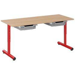 Table Petite Frimousse 120 x 50 avec tiroirs