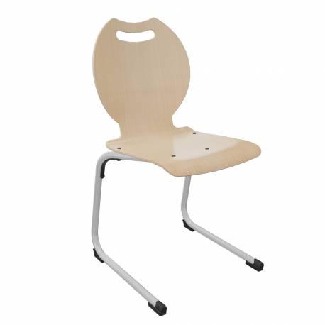 Chaise coque bois AST acier Ø 25 BANDANA