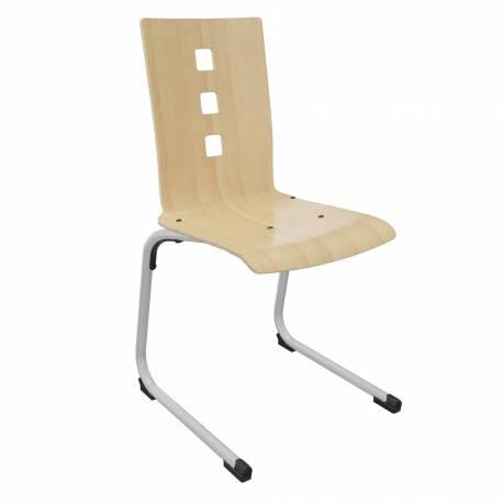 Chaise coque bois AST acier Ø 25 OLGA