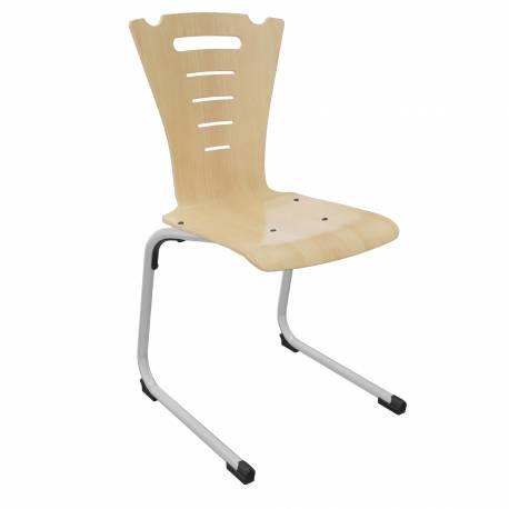 Chaise coque bois AST acier Ø 25 CORALY