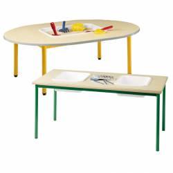 Table lutin à bac(s) Plateau mélaminé