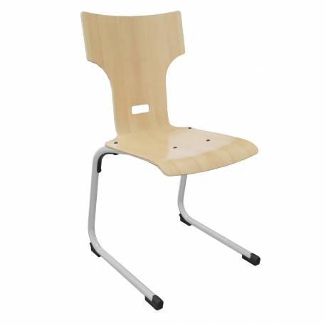 Chaise coque bois AST acier Ø 25 LISA