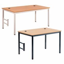 Table INFO avec 1 pieds support UC Mélaminé - Chants PP