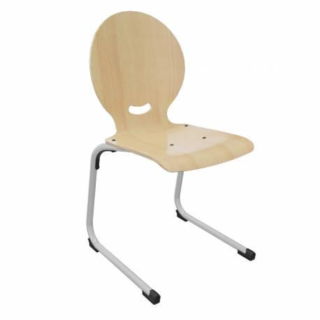 Chaise coque bois AST acier Ø 25 EGO