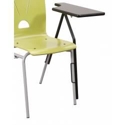 Tablette écritoire gauche chaise coque Ø 20