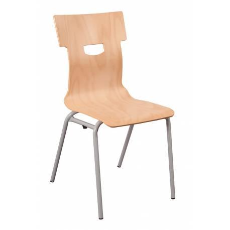Chaise coque bois 4 pieds Ø 20 CARO