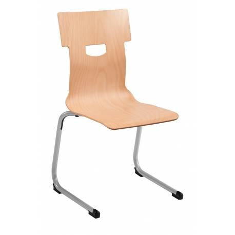 Chaise coque bois AST acier Ø 25 CONFORT