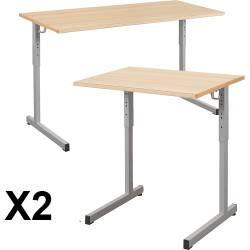 Lot de 2 Tables Gange réglables