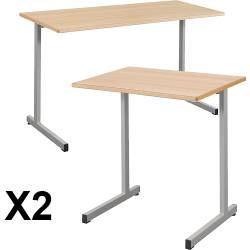 Lot de 2 tables Gange fixes