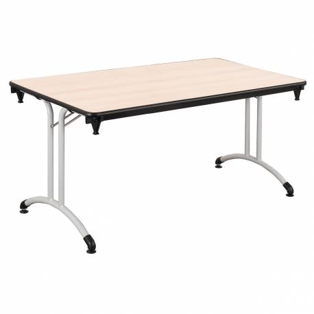 Table PLUME 140 X 70 stratifiée chant antichocs