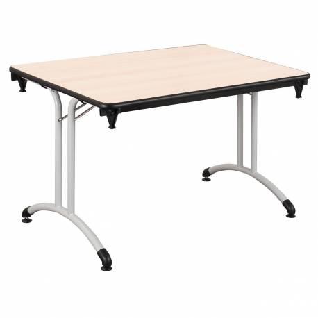 Table PLUME 120 X 70 stratifiée chant antichocs