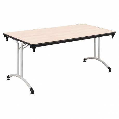 Table PLUME 180 X 70 stratifiée chant antichocs