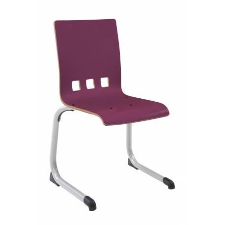 Chaise coque stratifiée AST aluminium Ø 30 CARO