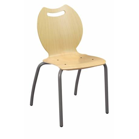 Chaise coque bois 4 pieds Ø 25 BANDANA