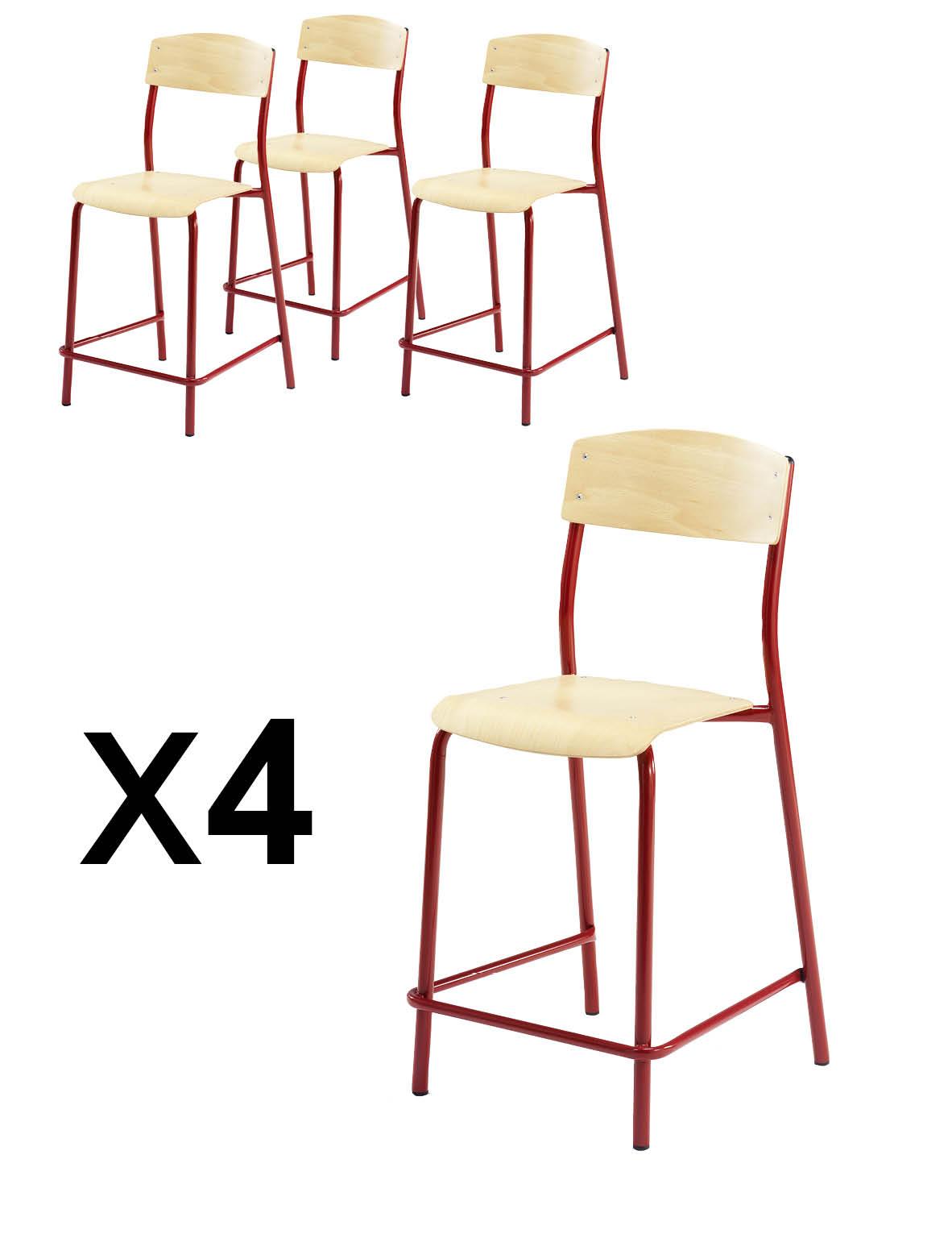 X Lot H60 4 Chaises Réhaussées Simire Pieds Antib nX8Pw0ONk