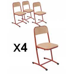 Lot x 4 Chaise AST SAKI