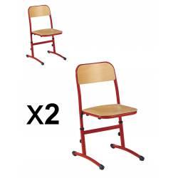 Lot x 2 Chaises réglable SAKI