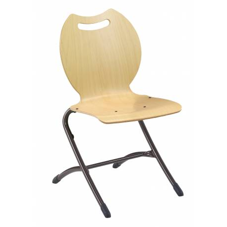 Chaise coque bois AST 4 pieds BANDANA